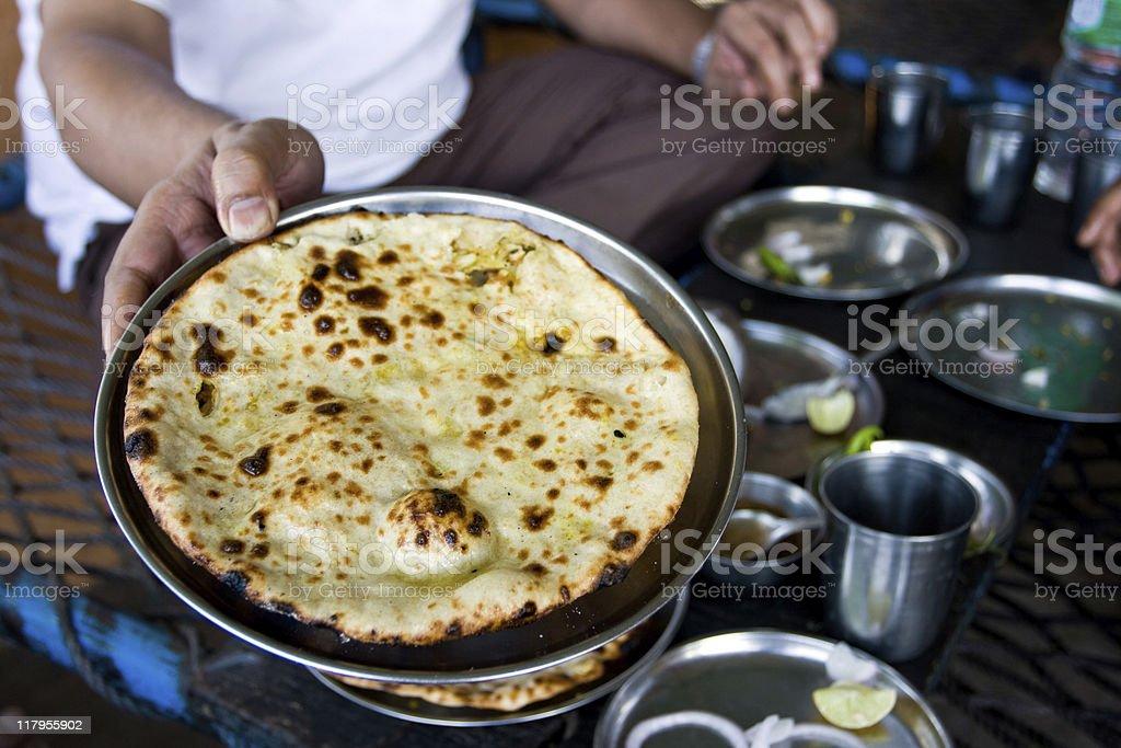 Close up of a Tandoori Parantha in India stock photo