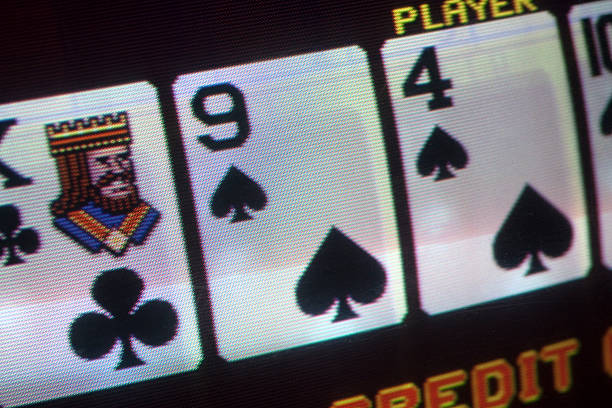 close up of a video poker machine - video still stock pictures, royalty-free photos & images