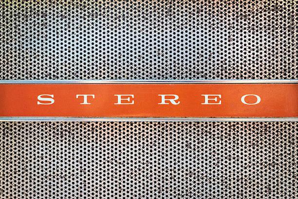 nahaufnahme von einer antiken jukebox mit dem text-stereoanlage - radio kultur stock-fotos und bilder