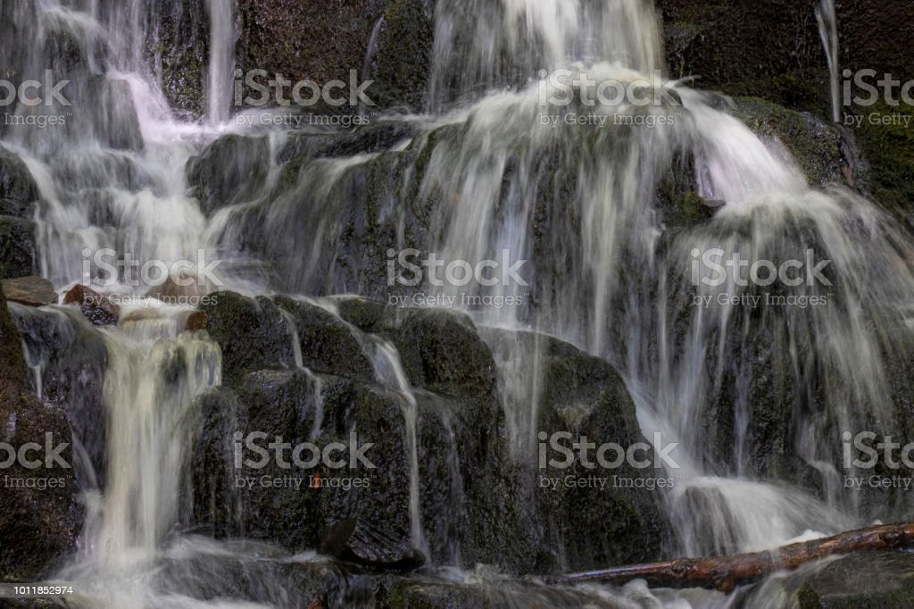 Close up of a waterfall. stock photo