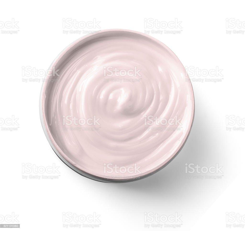 close up of a white beauty cream stock photo