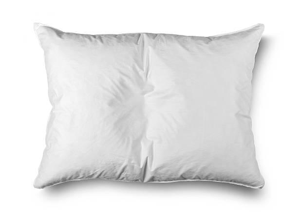 close up of a white подушка на белом фоне - подушка стоковые фото и изображения