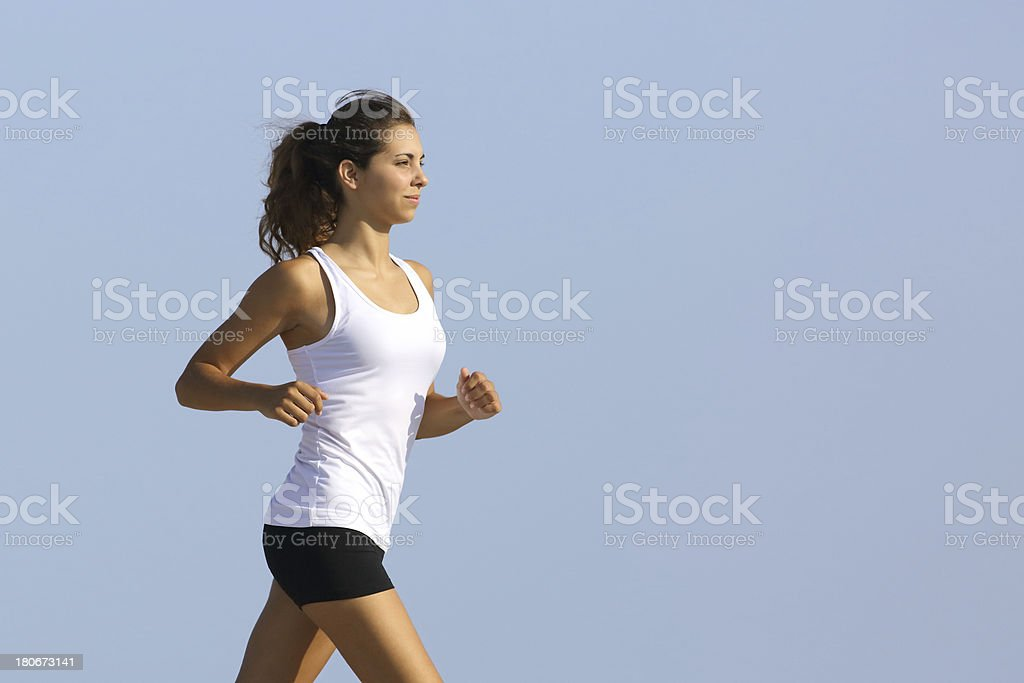Close up of a woman running royalty-free stock photo