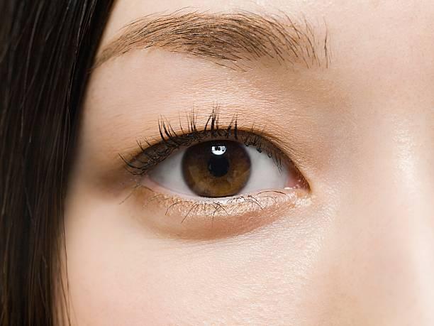 クローズアップの女性の目 - 人間の眼 ストックフォトと画像