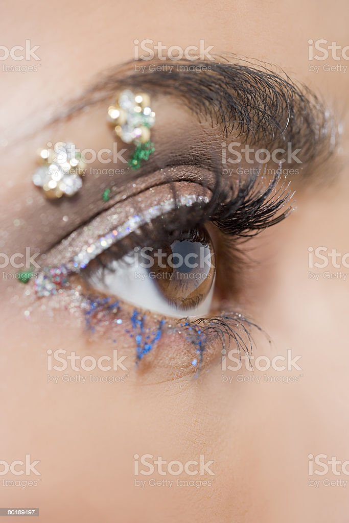 Close up of a womans eye royalty-free stock photo