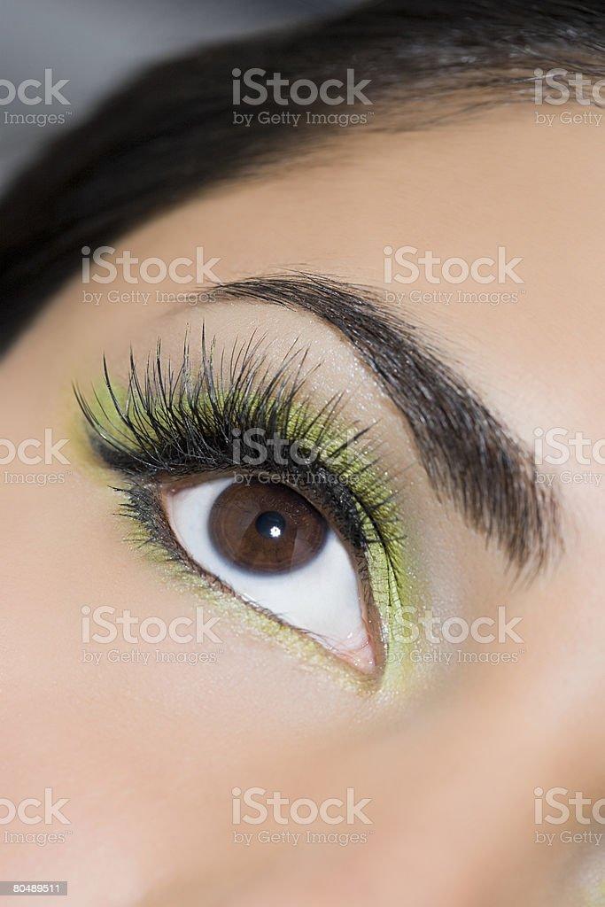 Plano aproximado de um Olho womans foto de stock royalty-free