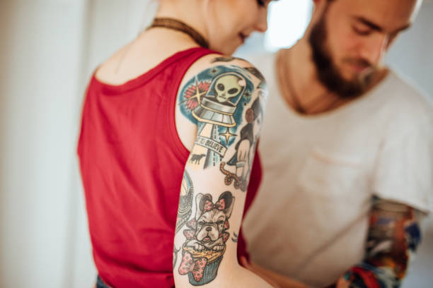 1 993 Sleeve Tattoo Stock Photos Pictures Royalty Free Images Istock