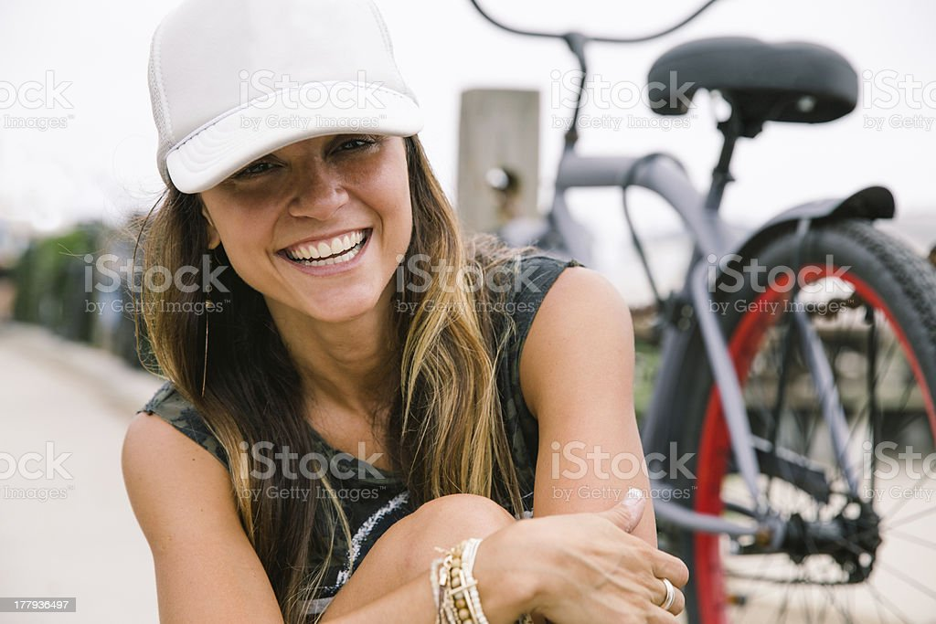 Close up of a young happy girl stock photo