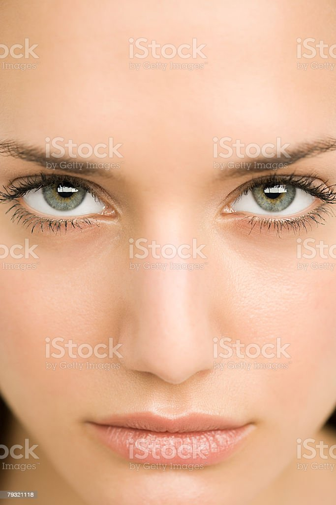 Close up of a young womans face 免版稅 stock photo