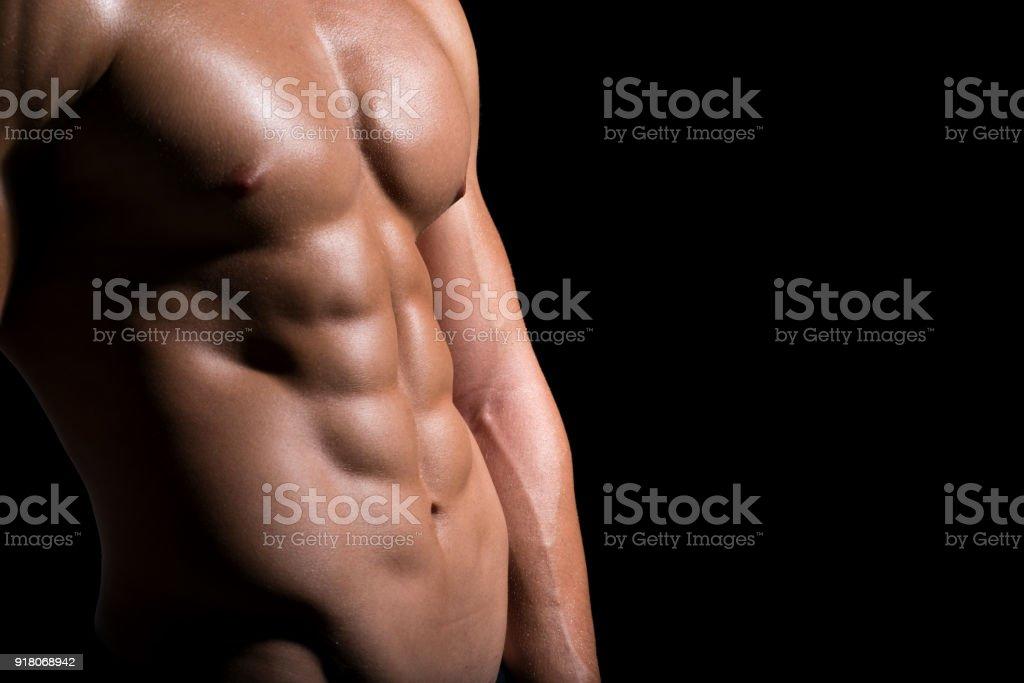 Fotografía de Cerca De Los Músculos Abdominales y más banco de ...