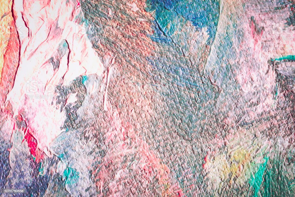 Close Up Of Abstract Oil Painting On Canvas Texture Wallpaper With