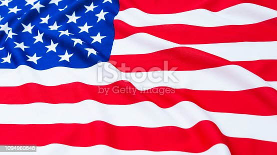 687972458 istock photo Close up of American flag 1094960848