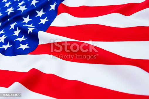 687972458istockphoto Close up of American flag 1094960872