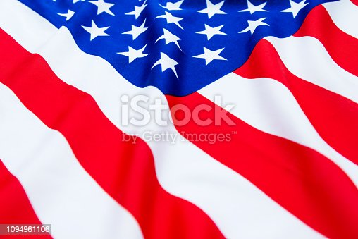 687972458 istock photo Close up of American flag 1094961106