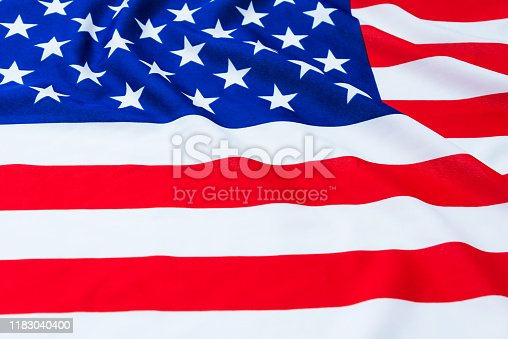 687972458 istock photo Close up of American flag 1183040400