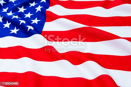 687972458 istock photo Close up of American flag 1183040460