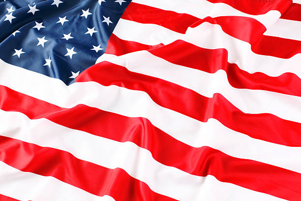 Close up of American flag stock photo