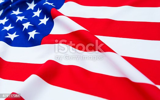 687972458istockphoto Close up of American flag 879117084
