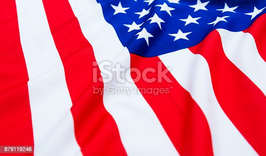 687972458 istock photo Close up of American flag 879119246