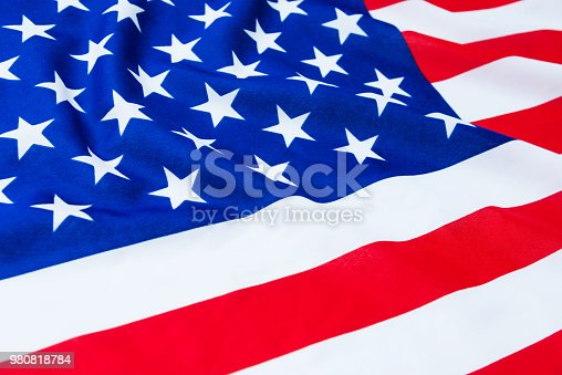 687972458 istock photo Close up of American flag 980818784
