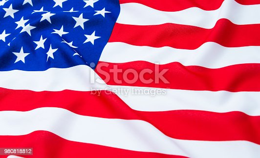 687972458 istock photo Close up of American flag 980818812