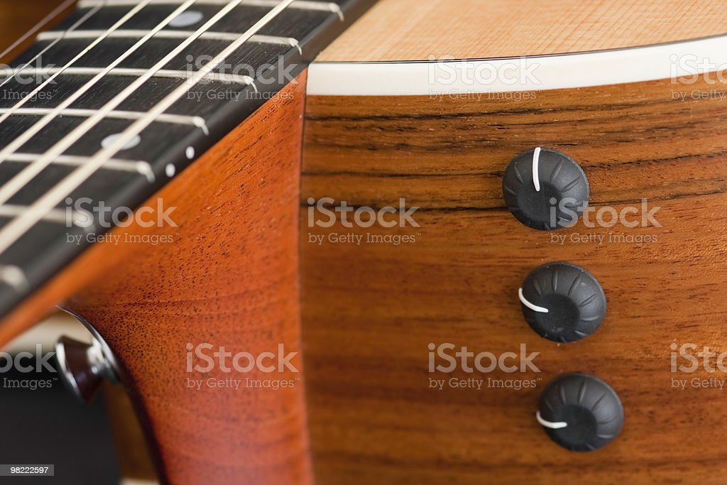 Close up of an Acoustic guitar Design royalty-free stock photo