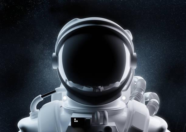 Close Up Of An Astronaut Helmet stock photo