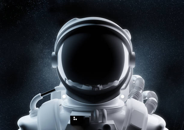 Nahaufnahme eines Astronautenhelms – Foto