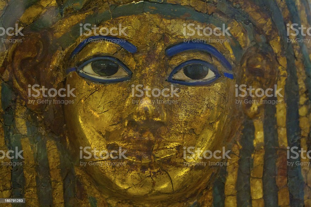 Close up of an Egyptian Casket royalty-free stock photo
