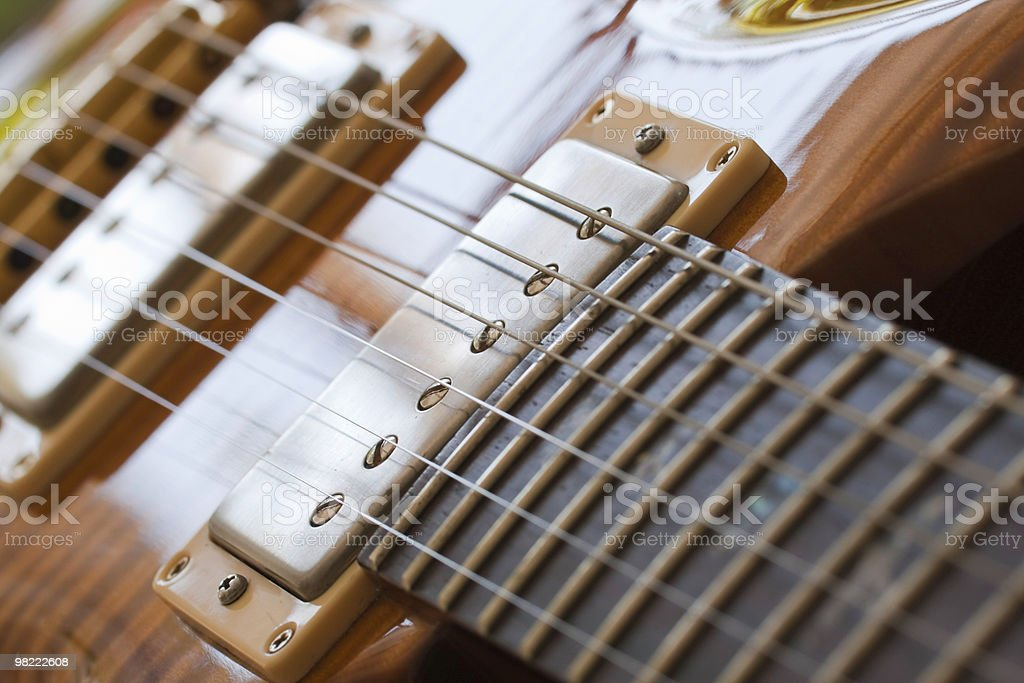 Close up of an Electric guitar strings royalty-free stock photo