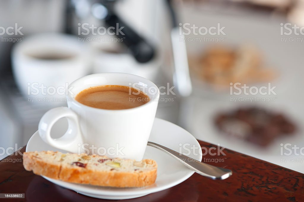 Close up of an espresso shot royalty-free stock photo