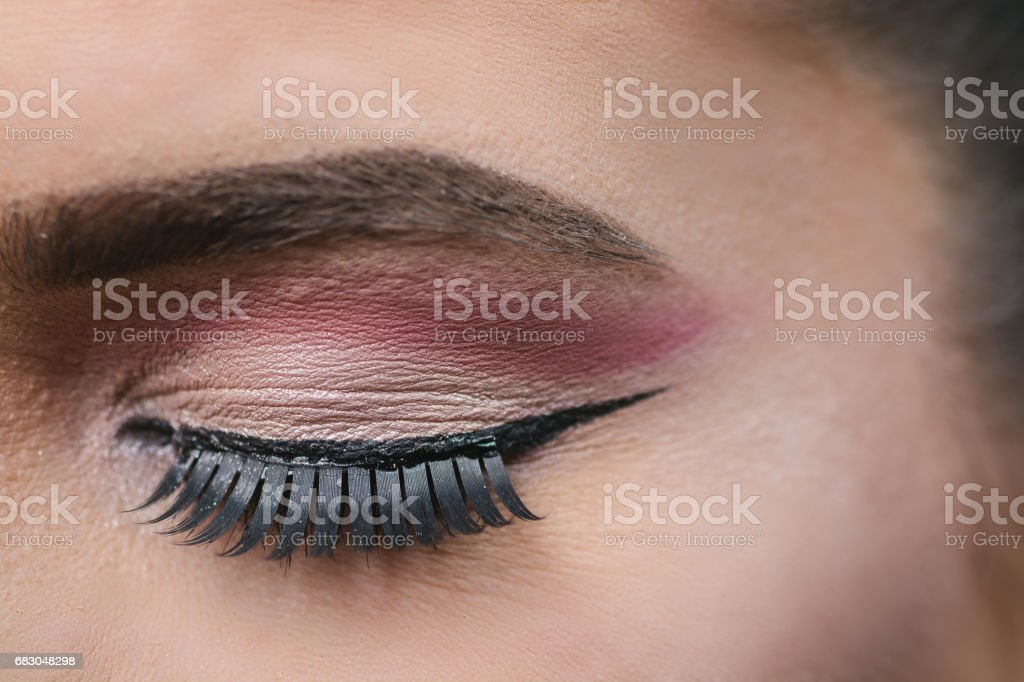 Close up of an eye with stage make-up foto de stock royalty-free