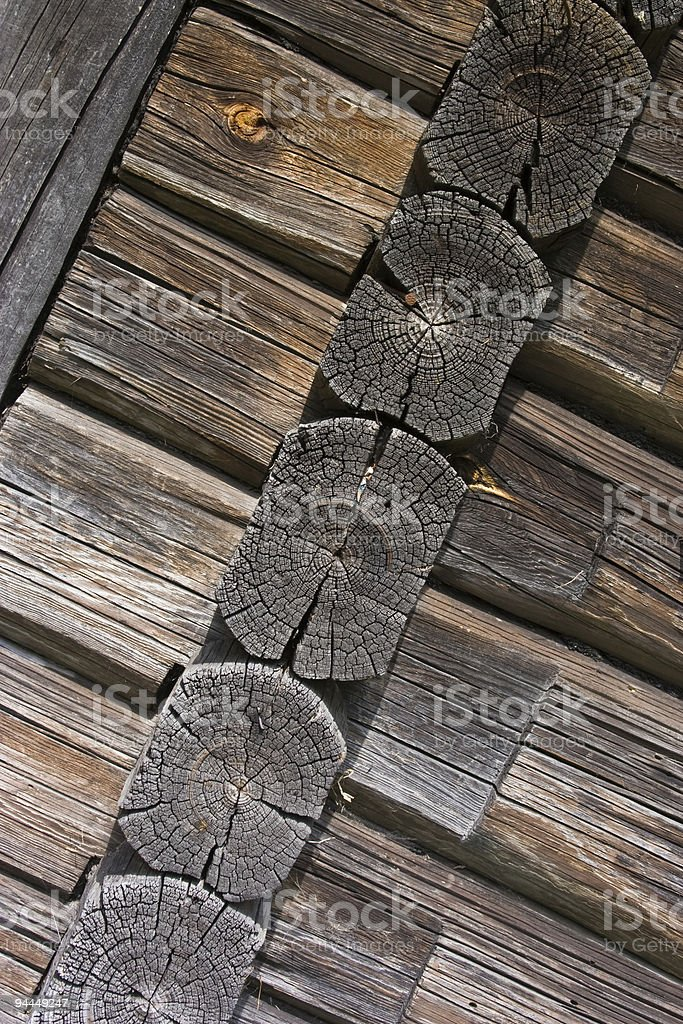 close up of an old wooden country house royalty-free stock photo