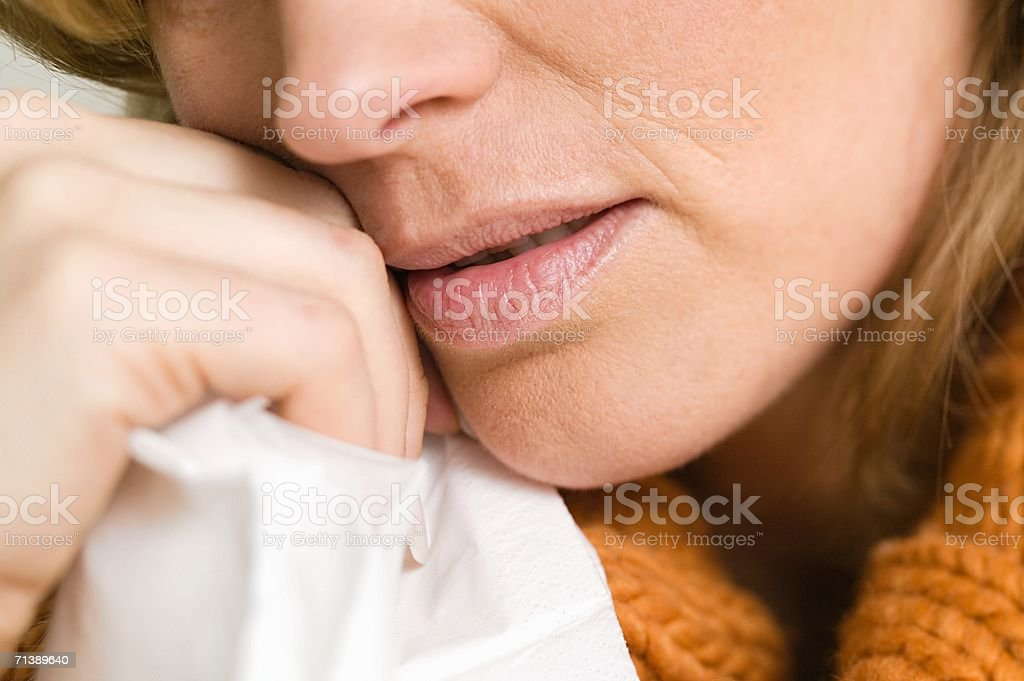 Close up of an upset woman royalty-free stock photo