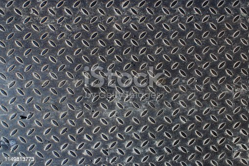 615100828istockphoto Close up of an used metal anti slip plate 1149813773