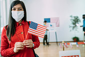 istock Close up of an young asian woman on Election Day 1280247765