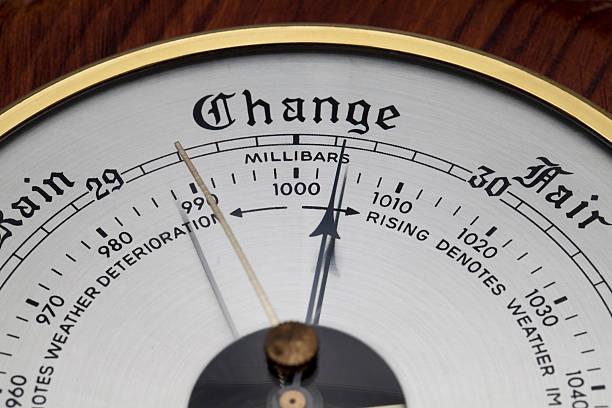 close up of aneroid barometer - barometer bildbanksfoton och bilder
