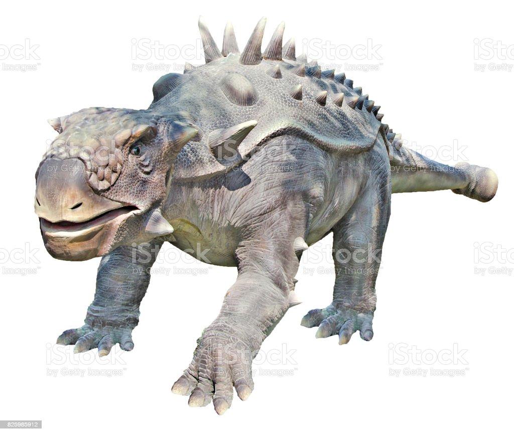 Close-up de dinossauro Ankylosaurus - foto de acervo
