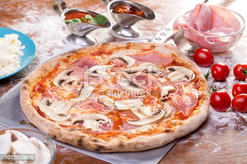 istock close up of appetizing mushroom and ham pizza 1012539510