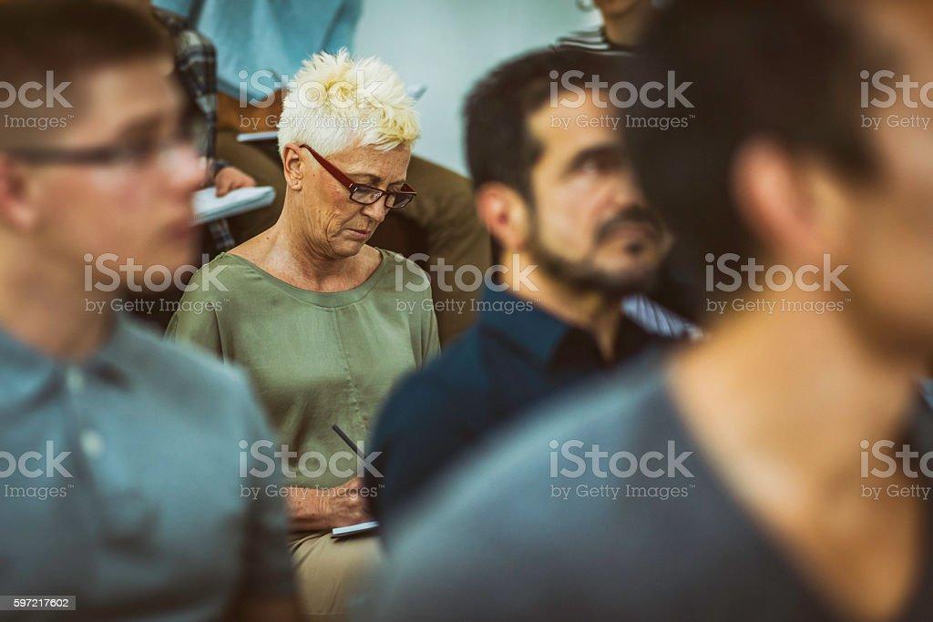 Close up of audience stok fotoğrafı