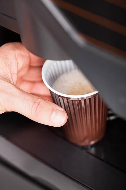 Nahaufnahme der automatische Kaffeemaschine – Foto