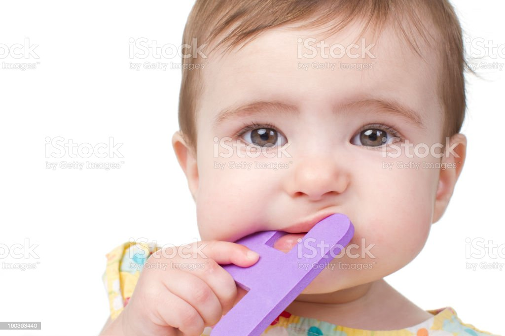 close up of baby stock photo