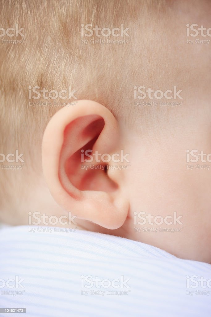Close up of babys ear royalty-free stock photo
