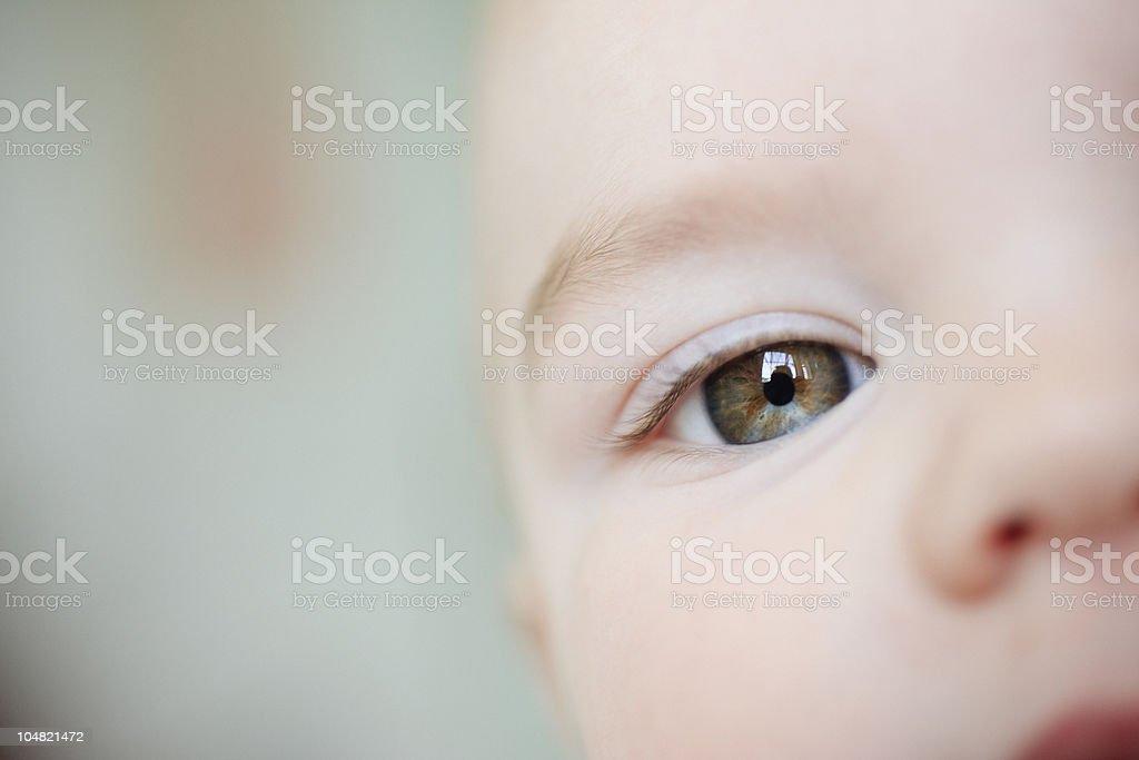 Close up of babys eye stock photo
