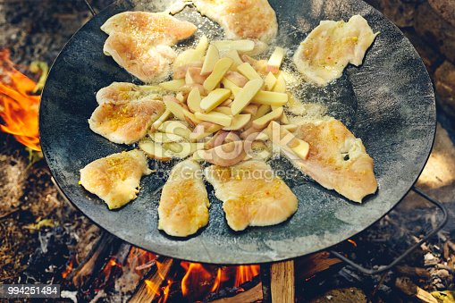 646207652istockphoto Close up of barbecue grill with various kinds of meat with potato for party 994251484