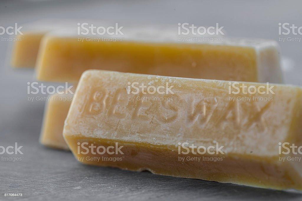 Close up of bars of molded beeswax stok fotoğrafı