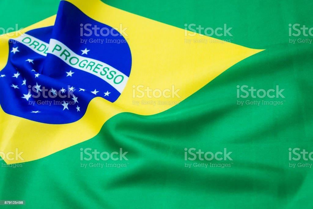Close up of Bazilian flag stock photo