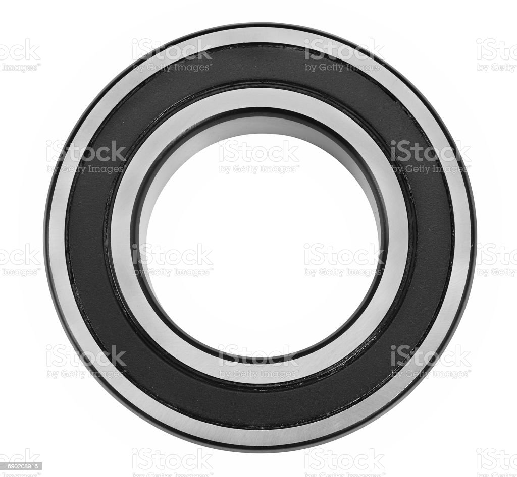 Close up of bearings isolated on white stock photo
