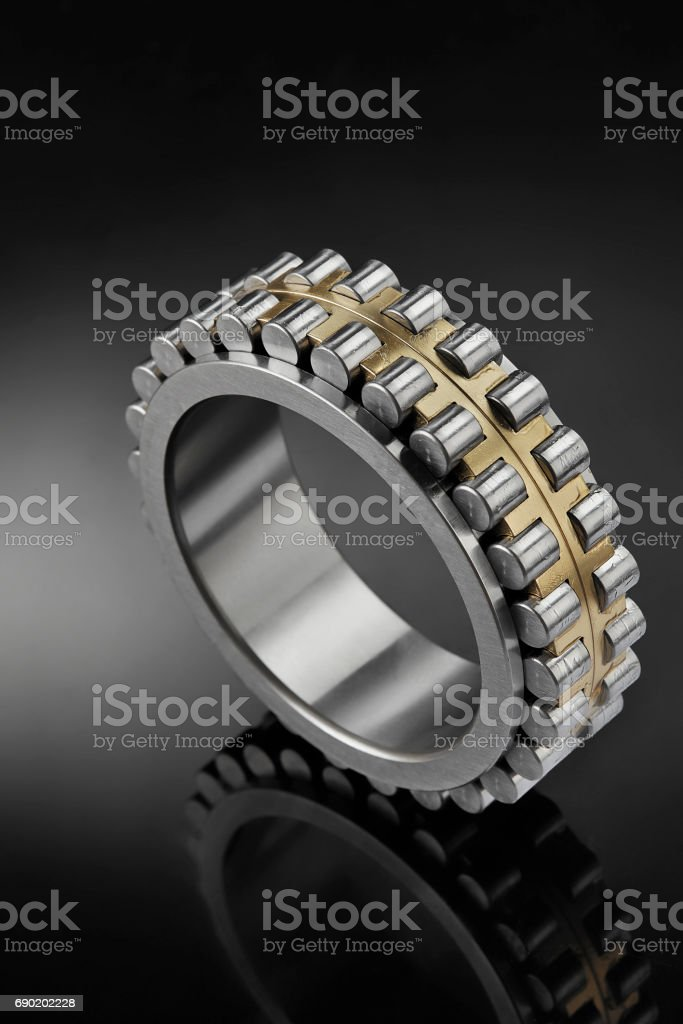 Close up of bearings stock photo