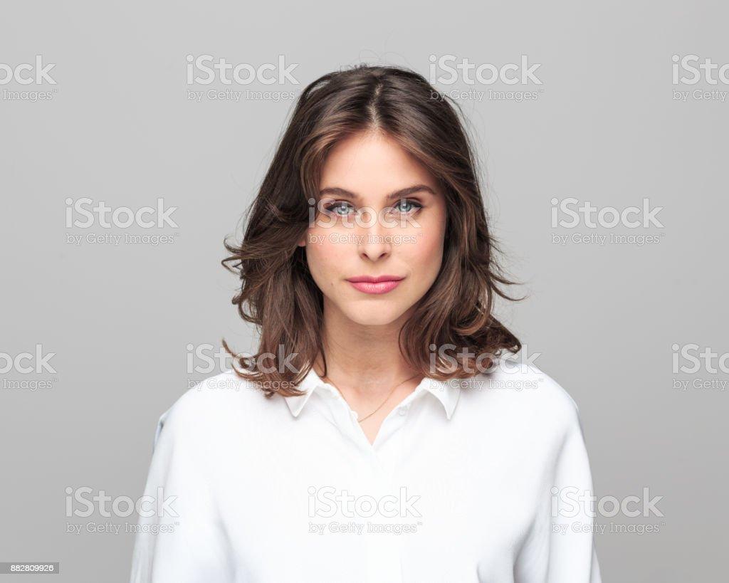 Nahaufnahme eines schönen kaukasischen Frau – Foto